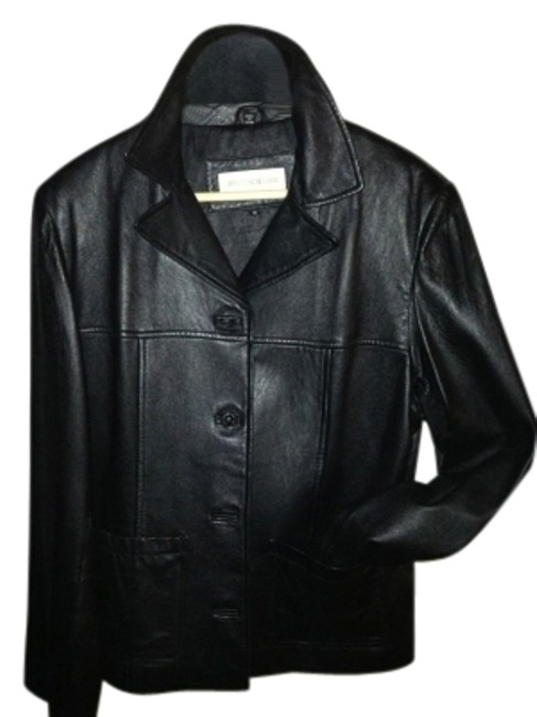 Preload https://item4.tradesy.com/images/nine-west-black-blazerjacket-leather-jacket-size-8-m-12008-0-0.jpg?width=400&height=650