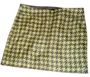 The Limited Mini Skirt Yellow and Brown plaid
