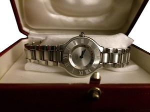 Cartier CARTIER MUST DE 21 LADIES STAINLESS STEEL WATCH 1340