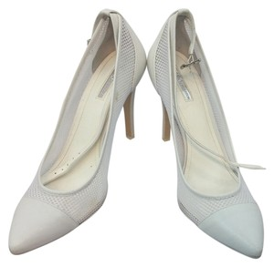 BCBGeneration Bcbg Leather Heels WHITE Pumps
