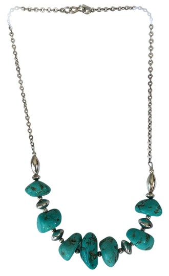 Preload https://item1.tradesy.com/images/turquoise-and-sterling-silver-handcrafted-genuine-necklace-12008245-0-2.jpg?width=440&height=440
