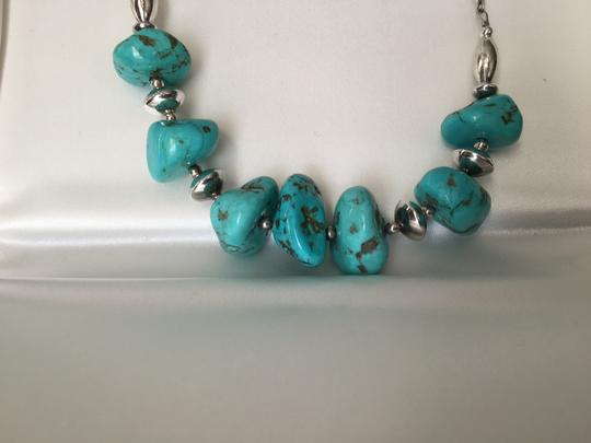 Other Handcrafted Genuine Turquoise and Sterling Necklace