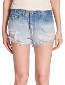 ag & bone/JEAN The Marilyn Distressed Shorts Denim Shorts