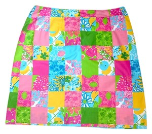 Lilly Pulitzer Patterned Cotton Skirt Combo