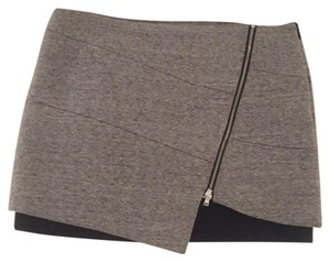 INTERMIX Mini Skirt Gray/black.