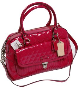 Coach Poppy Liquid Gloss Satchel in Magenta