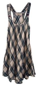 Mudd short dress Turquoise & Black Plaid Flouncy Cotton on Tradesy