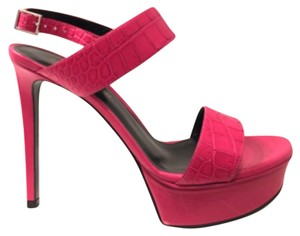 Saint Laurent Bubble Gum Fuchia Platforms
