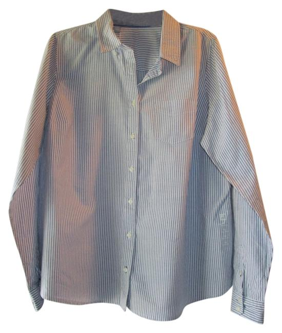 Other Button Down Shirt white and blue striped
