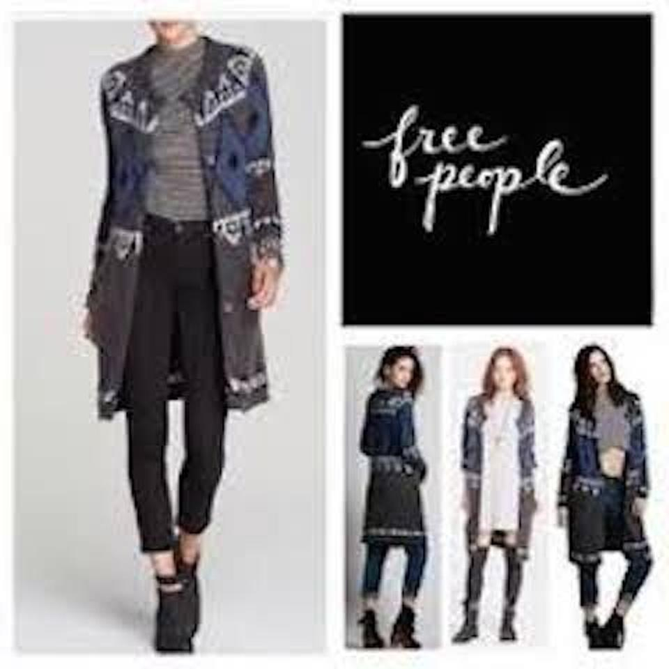 Free People Grey White Blue Black New with Tags Size 8 (M) - Tradesy