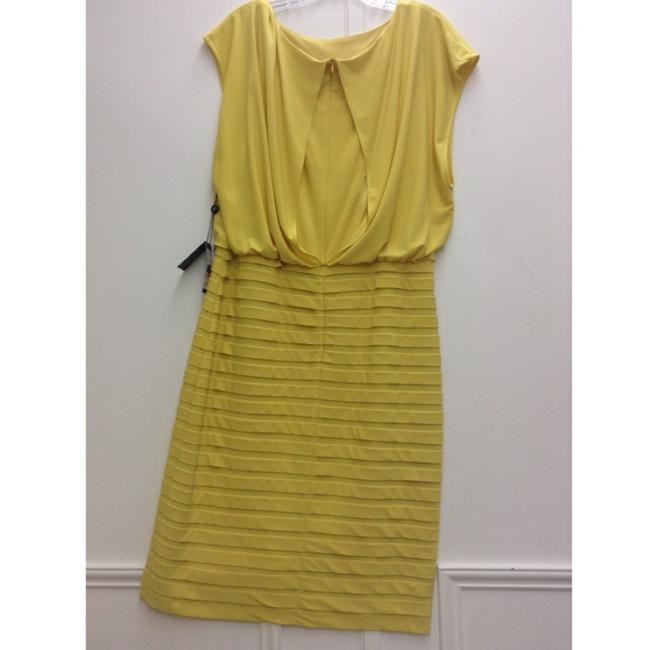 Adrianna Papell Yellow Size 12 Dress