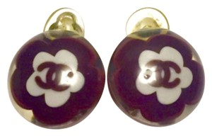 Chanel Authentic Chanel CC Camelia Earrings