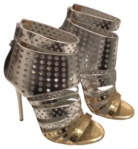 Jimmy Choo Silver and gold patent leather Boots