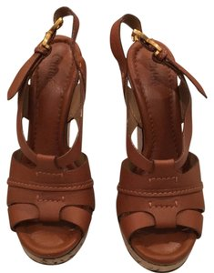 Chloé Brown leather Wedges