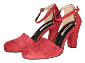 Ankle Strap dark red Pumps