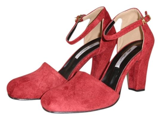 Other Ankle Strap Burgundy Ankle Strap D'orsay Two Piece D'orsay Two-piece dark red Pumps