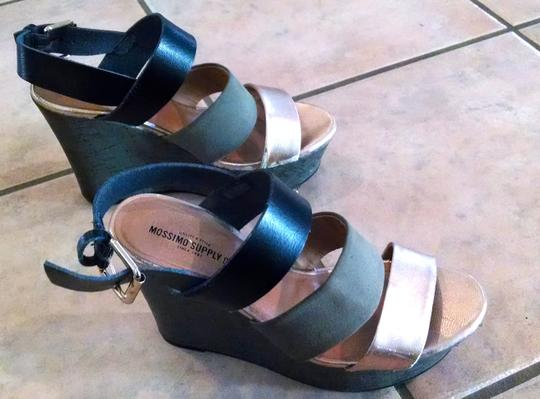 Mossimo Supply Co. Heels Sandals Size 7.5 Black gray, pink, metallic Platforms