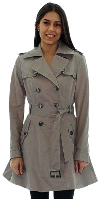 Item - Gray Women's Trench Double Breasted Rain Jacket Coat Size 10 (M)
