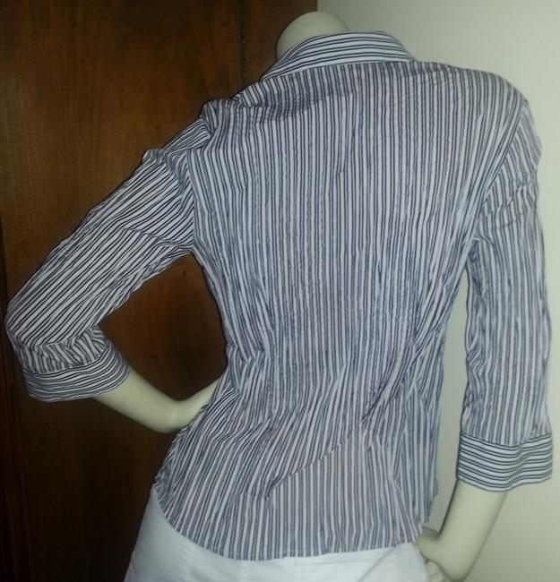 Apt. 9 Button Down Shirt Black & White Stripes