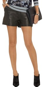 3.1 Phillip Lim Leather Calfskin Date Night Fall Shorts Dark Brown