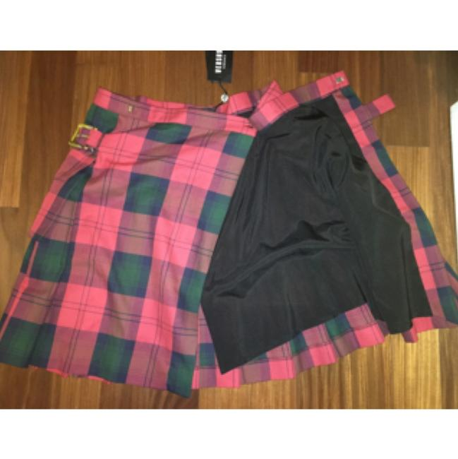 Versus Versace Skirt Red Plaid