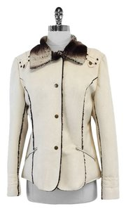 Mesmerize Cream Suede Button Down Jacket