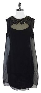Gryphon short dress Black Silk Collar on Tradesy