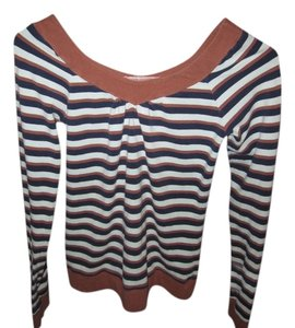 Fossil Soft Spring/fall Top Baby Blue/Brown