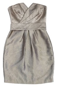 Coast short dress Gold Textured Strapless on Tradesy
