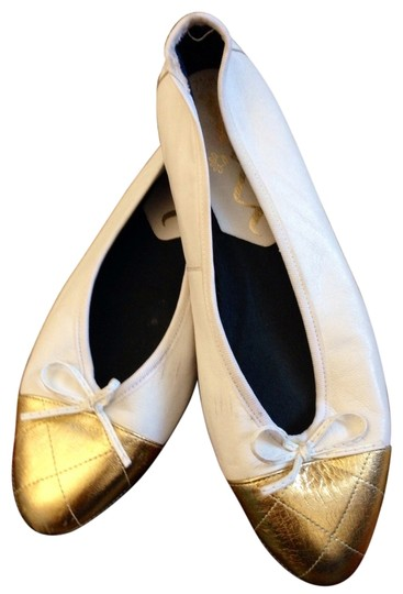 Nina Shoes White/Gold Flats
