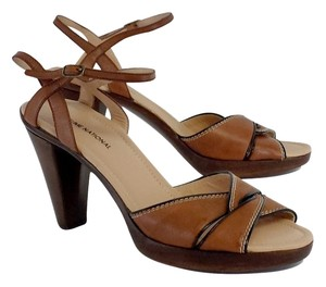 CoSTUME NATIONAL Brown Leather Heels Sandals