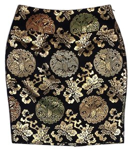 Ralph Lauren Black Gold Brocade Skirt
