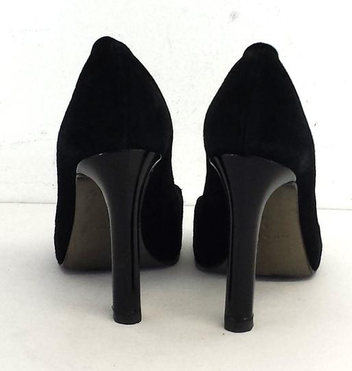 Diane von Furstenberg Black Peep Toe Ring Heels Pumps