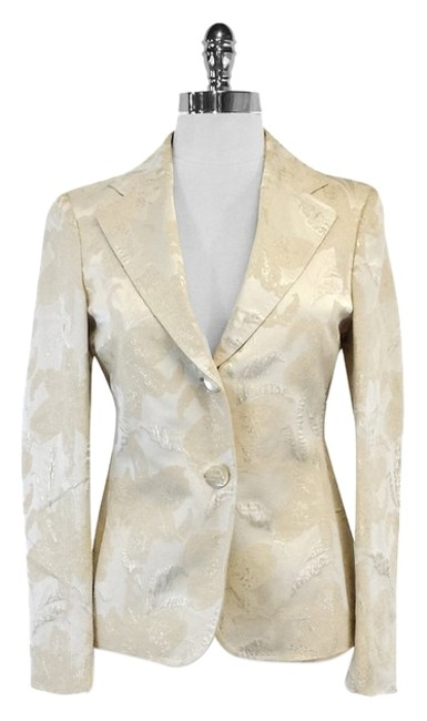 Preload https://item5.tradesy.com/images/tombolini-cream-and-gold-leaf-print-suit-size-4-s-12012679-0-1.jpg?width=400&height=650