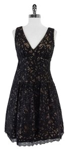 BCBGMAXAZRIA short dress Black Sequin Embroidered on Tradesy