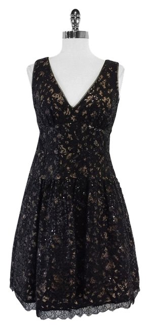 Preload https://item5.tradesy.com/images/bcbgmaxazria-black-sequin-and-embroidered-mid-length-short-casual-dress-size-6-s-12012739-0-1.jpg?width=400&height=650