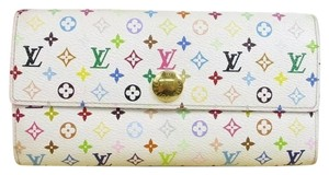Louis Vuitton Louis Vuitton Leather Multi Color Sarah Wallet / Box / Dust Bag