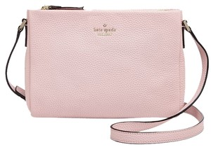 Kate Spade New Leather Pink Gold Hardware Cross Body Bag