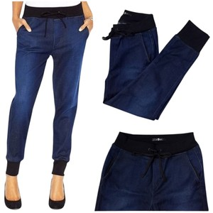 7 For All Mankind Jogger Denim Relaxed Fit Jeans-Dark Rinse