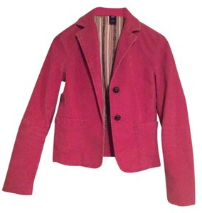 Gap Pink Courdaroy Faux Leather Buttons Jacket