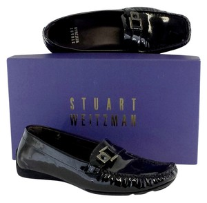 Stuart Weitzman Black Patent Leather Loafers Flats