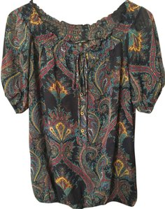 Naked Zebra Blouse New Blouse Paisley Sheer Blouse Sexy Blouse Blouse Versatile Blouse Classy Blouse Paisley Sexy Date Night Top