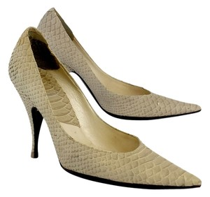Dior Nude Leather Snakeskin Pumps