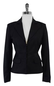 L.A.M.B. Black Striped Wool Suit Jacket