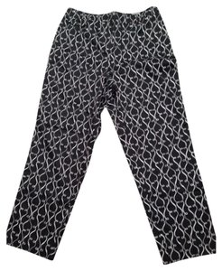 Talbots Relaxed Pants Black, white