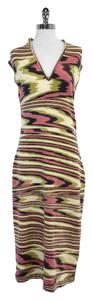 Maxi Dress by Missoni Pink Green Wool Blend