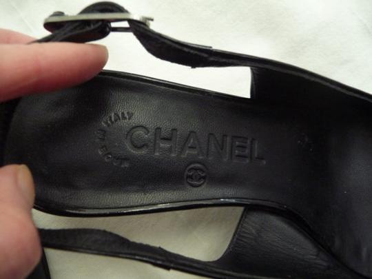 Chanel Heels Slingback Cc Logo Made In Italy black Sandals