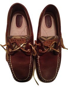 Sperry Top-Sider Dark Brown with design on sides Flats