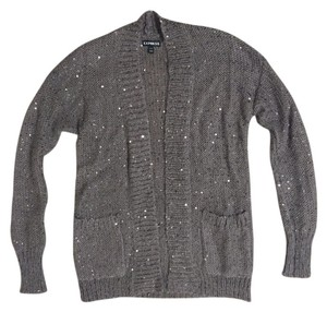Express Wool Mohair Glitter Sequin Cardigan