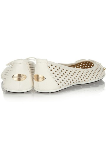 Jimmy Choo Ballerina Leather White Flats